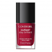 CoverGirl Outlast Stay Brilliant Nail Gloss, Rose Delight, 0.37 Fluid Ounce
