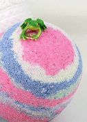 KIDS Pink, Blue & White Big Bath Bomb with Sea Creature Toy Inside - 'Cheer Up Buttercup' Scent in New Large Party Size 7.6cm Diameter Ages 4+