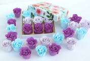 Valentine's Rose Bath Bombs, Nine Rose Flower Bath Bombs with Blue flower box, 9go