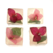 Health And Beauty bougainvillaea SOAP CUBES Other 4 Piece Gift Set, Flower 5118.