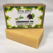 LEMONGRASS TEA 120ml ORGANIC SOAP BAR BY WITCH HIPPIE
