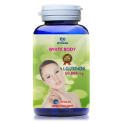 WHITE BODY - L-Glutathione 500 mg PURE 100% - NATURAL SKIN LIGHTENING PILLS - Support Whitening skin for women and men - 100 days supply