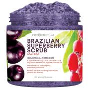 Body Essentials Brazilian SuperBerry Scrub - Acai and Goji Berry Antioxidant Scrub - Dead Sea Salt - 100% Natural Ingredients - Antioxidant Power For Skin - Essential Oils - Paraben/Sulphate Free