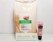 """TruBeauty Coconut Facial Cleansing Wipes Normal to Dry Kin 60 Wipes """"Free Starry Lip 10 ML"""""""