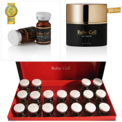A Set of Ruby Cell Ampoule and Cream