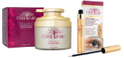 C'est la Vie Organic and Natural Moisterizer Cream and Eyelash and Eyebrown Growth and Enhancement Serum Beauty Bundle