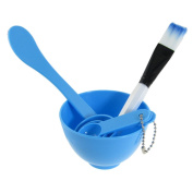 CyberStyle(TM) Packed 4 In 1 Facial DIY Mask Bowl Brush Spoon Tools Set Blue