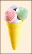 Quilting kit Charivna mit #КВ-024 Summer delicacy Ice Cream 8x4 cm / 3.15x1.57 in