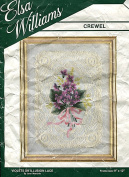 Elsa Williams Crewel Kit 00287 Violet on Illusion Lace Picture