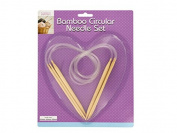 Bamboo Circular Knitting Needle Set - Pack of 8