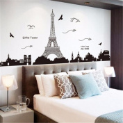 HN Paris Eiffel Tower Removable Decor Environmentally Mural Wall Stickers Decal