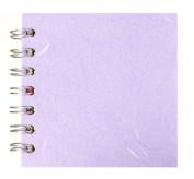 Zen Pink Pig, 10cm x 10cm Square Sketchbook | 35 White Sheets, 45kg | Lilac