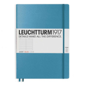 Leuchtturm1917 Slim Master Size Hardcover Lined Notebook, Nordic Blue