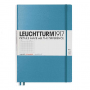 Leuchtturm1917 Slim Master Size Hardcover Square Notebook, Nordic Blue