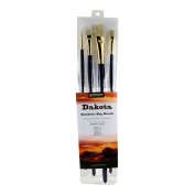 Princeton Artist Brush Dakota, Mixed-Media Brushes for Acrylic, Oil, Watercolour Series 6300, 4 Piece Professional Set 500