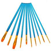 Soucolor Paint Brush Set Acrylic Professional Paint Brushes Artist for Watercolour Oil Acrylic Painting(10pcs )