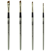 Russian Pure Sable Angle Shaders Brush Set Sizes 2-4-6-8 Made in Germany