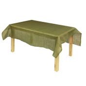PoshNPretty Square Burlap Tablecloth, 150cm x 150cm , Moss