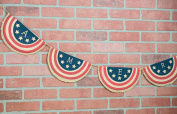 America Banner USA Burlap Garland 200cm Bunting