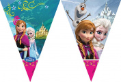 Partyrama Frozen Triangle Flag Banner 23cm Disney Characters Elsa Anna Olaf Brand New Official Licenced Item 72025