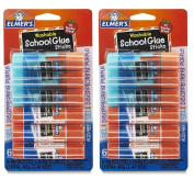 Elmer's Washable School Glue, 6 Gel & 6 Disappearing Purple, 12 total sticks.