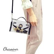 Clear Cross-Body Messenger Shoulder Bag, Charminer Adjustable Strap Handbag-NFL Stadium Approved Clear Purse
