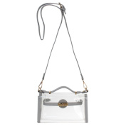 Yocatech Clear Crossbody Messenger Shoulder Bag Purse for Women Adjustable Strap, NFL Stadium Approved