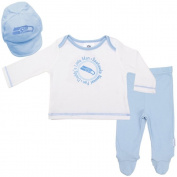 Seattle Seahawks Baby Boy Footed Pants, Hat and T-Shirt Set - Blue