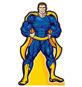 Super Hero In Blue - Advanced Graphics Life Size Cardboard Standup