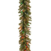 National Tree 2.7m by 25cm Norwood Fir Garland with 50 Battery Operated Multicolor LED Lights