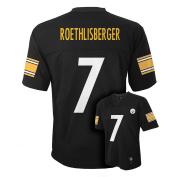 Ben Roethlisberger Pittsburgh Steelers Black NFL Youth 2016-17 Season Mid-tier Jersey