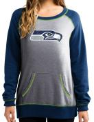 """Seattle Seahawks Women's Majestic NFL """"O.T. Queen"""" French Terry Sweatshirt"""