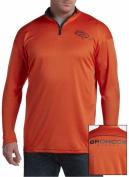 Denver Broncos NFL Mens Majestic 2 Sided 1/4 Zip Fleece Shirt Orange Big & Tall Sizes