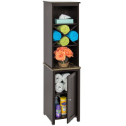 Best Choice Products Bathroom Floor Tower Cabinet Storage- Brown