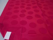 Robert Allen Full Coverlet 200cm x 140cm Bed Scarf Throw Runner Cranberry Circles