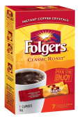Folgers Classic Roast Instant Coffee Crystals 7 Packets {Imported from Canada}