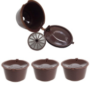 Doober 3Pcs Capsules Reusable Filter Cup for Nescafe Dolce Coffee Gusto Pod