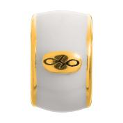 Endless Jewellery White Enamel Gold Charm