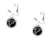 Atlanta Falcons Silver-tone Dangle Earrings