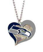 Aminco NFL Swirl Heart Necklace