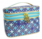 Modella Moroccan Hues Collection Cosmetic Fitted Double-Zip Train Case