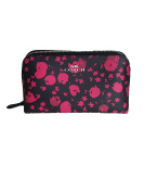 Coach Cosmetic Case In Flower Coated Canvas Midnight Pink Ruby F56726