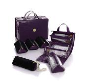 Joy Mangano Better Beauty Case Deluxe Set ~ Purple Croco