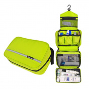 Comicfs Hanging Toiletry Kit Clear Travel BAG Cosmetic Carry Case Toiletry (Green), With Comicfs cleaning cloth