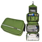 Comicfs Hanging Toiletry Kit Clear Travel BAG Cosmetic Carry Case Toiletry (Olive), With Comicfs cleaning cloth