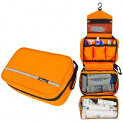 Comicfs Hanging Toiletry Kit Clear Travel BAG Cosmetic Carry Case Toiletry (Orange), With Comicfs cleaning cloth