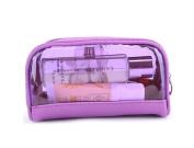Drasawee Women's Waterproof Transparent Travel Makeup Bag Toiletry Cosmetics Bag Purple