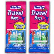 Hefty One Zip Travel Bags Quart Size