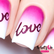 Whats Up Nails - Written With Love Nail Stencils Stickers Vinyls for Nail Art Design