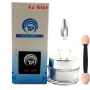 Magic Mirror Chrome Effect Metallic Powder Plus No Wipe Top Coat. App. 5g per jar / 15 ml per No Wipe Bottle